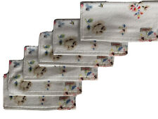 Cath Kidston Scattered Flowers Pack Of 6 Face Cloths White