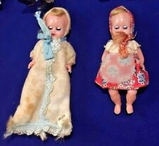 Vintage Hard Plastic Open Close Eyes Jointed Baby Dolls Made in Italy
