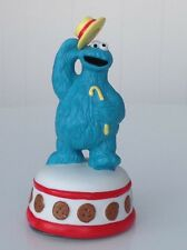 Cookie Monster musical ceramic figurine - plays Sesame Street Theme - spins