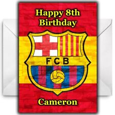 BARCELONA FC Personalised Birthday / Christmas / Card - Large A5 - Design 2