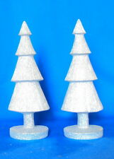 Two 10 inch trees christmas tree holidays winter decoration