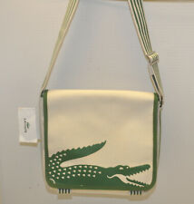 Vintage Rare Lacoste Summer Croc Off White / Green Small Unisex Messenger Bag