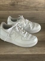 Nike Air Force 1 White/White Sneaker Shoes  Size 2 Youth Low Top  (314193 117)