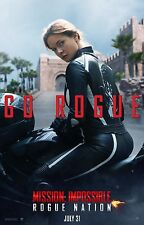 Mission Impossible Rogue Nation Movie Poster (24x36) -Rebecca Ferguson Cruise v1