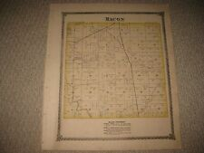 Antique 1875 Macon Neponset Township Bureau County Illinois Handcolored Map Nr