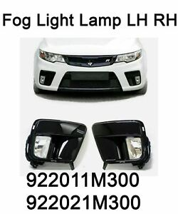 New OEM Fog Light Lamp LH RH Cover Wiring Set for Kia Forte Koup Cerato 10-13