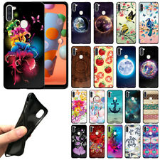"For Samsung Galaxy A11 6.4"" 2020 Flexible TPU Black Silicone Soft Cover Case"