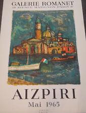 Affiche AIZPIRI , Galerie Romanet, Mai 1965 P1235