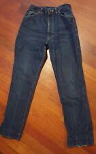 Vintage Womens LEE Rider Jeans Size 14 Union Made High Waist Dark Indigo--Hemmed