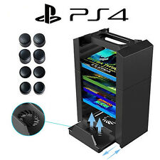Vertical Console Stand Cooling Fan with Game Storage for PS4 Pro /Slim / XboxOne