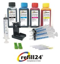 Kit de recarga para cartuchos de tinta HP 304,304XL negro y color + 400 ML Tinta