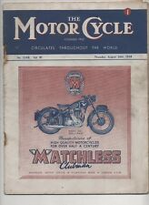 THE MOTOR CYCLE AUGUST 28TH 1948 - EUROPE GRAND PRIX / TOURING NORTH YORKSHIRE