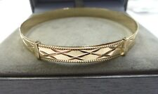New 9ct Solid Gold Ladies Patterned Expanding Bangle 6.1 grams