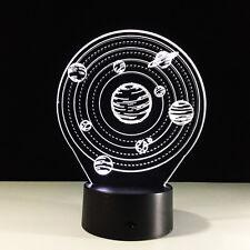 Luce Notturne Acrilico Solar System Galaxy Lampada Casa Deco Regalo Natale