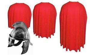 Adults Spartan 300 Red Cape & Helmet Sparta Elite Warrior Fancy Dress