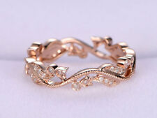 Ct Round Cut Simulant Diamond Eternity Engagement Band Ring Silver Rose Gold Fns