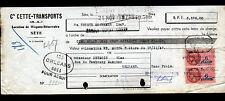 """SETE (34) TRANSPORT / LOCATION de WAGONS """"Cie CETTE TRANSPORTS"""" 1947"""