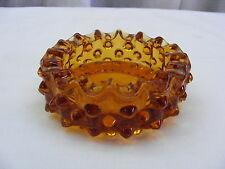 Vintage Ash Tray Fenton Amber Hobnail Ashtray 3 1/2 inches