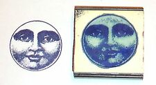Moon Face rubber stamp by Amazing Arts awesome detail!