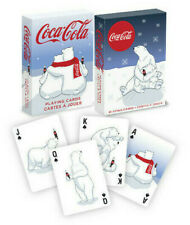 TWO DIFFERENT DECKS! of Coca-Cola Polar Bears Holiday Playing Cards - USPCC
