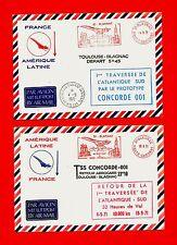 PROTOTYPE CONCORDE 001-TOULOUSE BLAGNAC-1er TRAVERSÉE ATLANTIQUE SUD-A/R-1971