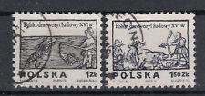 Polen Briefmarken 1974 Holzschnitte Mi.Nr.2350+51 gestempelt