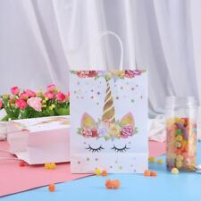 10pcs Paper Bag Paper Paper Unicorn Candy Bags for Wedding Birthday Favors Party