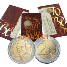 2 EURO COMMEMORATIVO SAN MARINO 2016 William Shakespeare