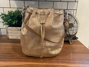 NWT Coach Madison Patent Leather Marielle Drawstring Bag Handbag