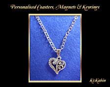Decorative Heart Tibetan Silver Charm Necklace Birthday Christmas Birthday Gift
