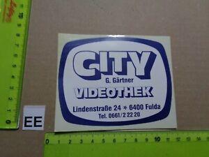 Alter Aufkleber Bühne Film Kino VideoThek CITY Stadt Fulda (A)