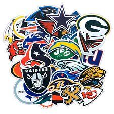 NFL Stickers Cowboys, Steelers, Patriots, Chiefs, Packers, Buccaneers (32 Teams)