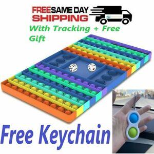 🌈 Big Chess Board 126 Popit Fidget Push Bubble Sensory Stress Toy Free Keychain