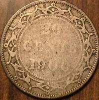 1900 NFLD SILVER 20 TWENTY CENTS