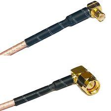 RG316 MCX MALE ANGLE to SMA MALE ANGLE Coax RF Cable USA-Ship