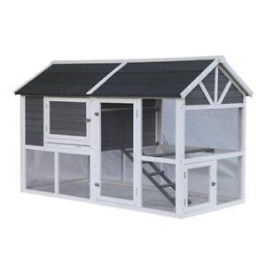 ALEKO Multi Level Barn Style Fir Wood Chicken Coop or Rabbit Hutch