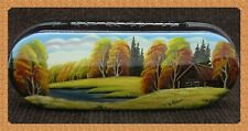 New hard case for glasses. Spectacles.Hand-painted.Russian souvenir. # W-75