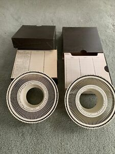 2 Sawyer's Rototray Rotary Slide Trays For Sawyer Rotomatic Slide Projector