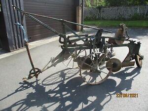 Massey Harris 21 trailed plough 2 furrow trailer plough. Match plough vintage