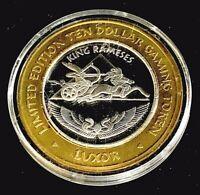 .999 $10 Silver Strike • Luxor Casino • Las Vegas •King Rameses Chariot • 2001