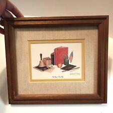 Vintage Picture Print Past Days & Present Ways Wood Framed Matt Robert l. Conley