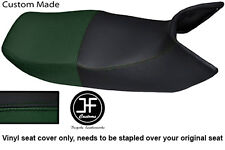 BLACK & DARK GREEN VINYL CUSTOM FITS HONDA PAN EUROPEAN ST 1100 DUAL SEAT COVER