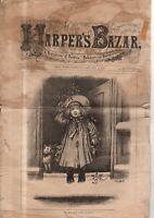1882 Harper's Bazar January 7 - Visiting & Ball toilettes; Thomas Nast Christmas