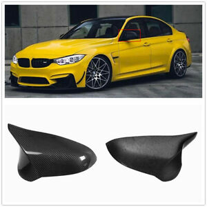 Add on Carbon Fiber Side Mirror Cover Caps For 2015-2018 BMW F80 M3 F82 M4 W
