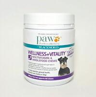 PAW by Blackmores Multi Vitamin Wholefood Dog Pet 60 Chews 300g Wellness Health