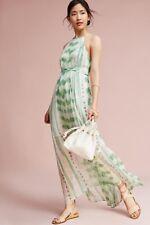 NWOT Anthropologie Vera Silk Maxi Dress By Moulinette Soeurs Green Sz M $198