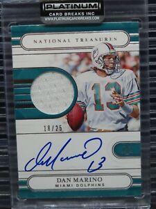 2020 National Treasures Dan Marino Auto Jersey Autograph #18/25 Dolphins Y12