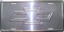 Chevy license plate bow tie chevrolet tag gm silverado sign logo emblem embosed