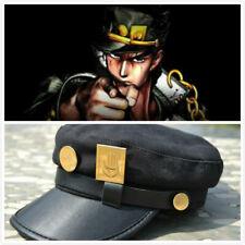Anime JoJo's Bizarre Adventure Kujo Jotaro Joseph Army Military Cosplay Cap Hat