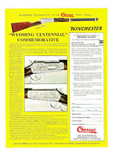 "1990 WINCHESTER MODEL 94 CARBINE ""WYOMING CENTENNIAL"" COMMEMORATIVE CHERRYS  AD"